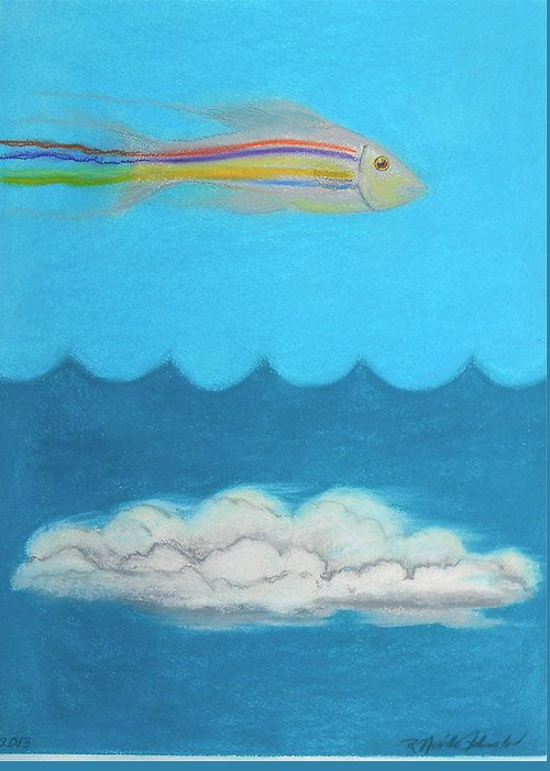 Fish Out Of Water Greeting Card featuring the mixed media Fish Out Of Water by R Neville Johnston