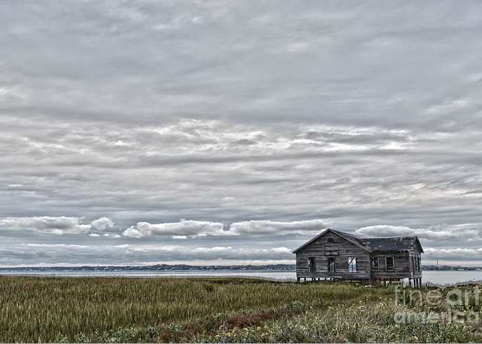Clouds Greeting Card featuring the photograph Fisherman Shack by Todor Tsvetkov