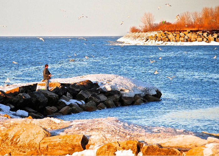 Cove Greeting Card featuring the photograph Fishermans Cove by Frozen in Time Fine Art Photography