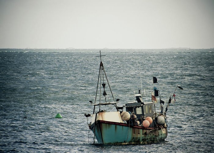 English Channel Greeting Card featuring the photograph Fishing Boat by Vfka
