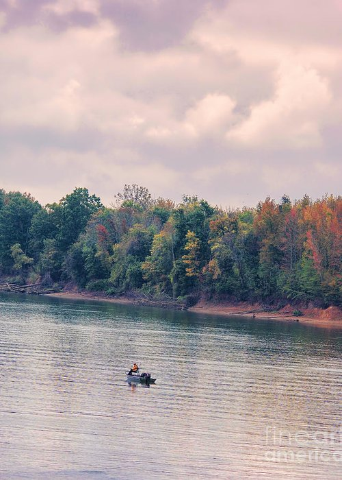 Autumn Greeting Card featuring the photograph Fishing In Autumn by Jai Johnson