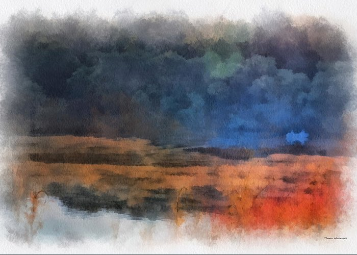 Fishing Greeting Card featuring the photograph Fishing In The Fog Photo Art by Thomas Woolworth
