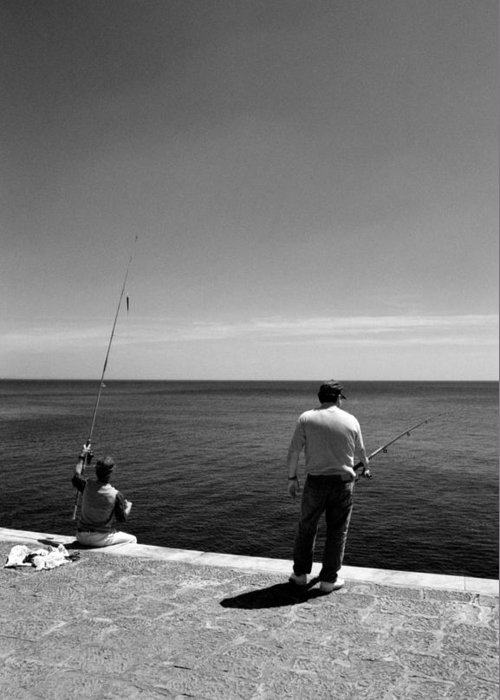 Olympus Greeting Card featuring the photograph Fishing by Luis Esteves