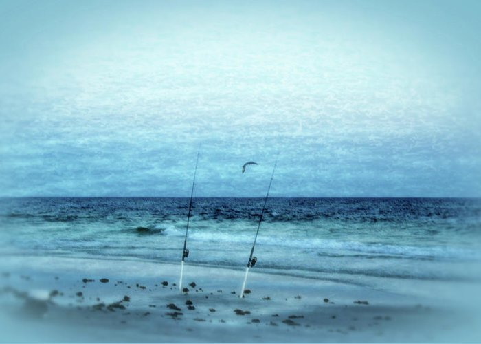Fishing Greeting Card featuring the photograph Fishing by Sandy Keeton