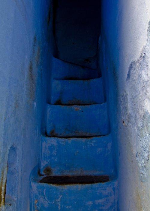 Blue Greeting Card featuring the photograph Five Blue by Kabir Ghafari