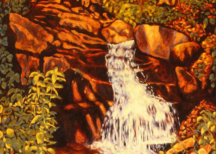 Kendall Kessler Greeting Card featuring the painting Five Mile Mountain by Kendall Kessler