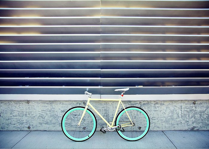 Tranquility Greeting Card featuring the photograph Fixie by I Love Taking Photo