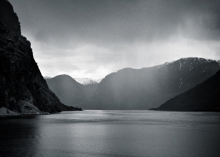 Norway Greeting Card featuring the photograph Fjord Rain by Dave Bowman