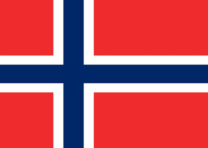Norway Greeting Card featuring the digital art Flag Of Norway by Tilen Hrovatic