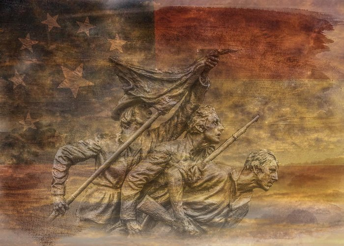 Flag Of Our Confederate Fathers Greeting Card featuring the digital art Flag Of Our Confederate Fathers by Randy Steele