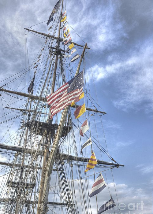 Tall Ships Greeting Card featuring the photograph Flagship Niagara by David Bearden