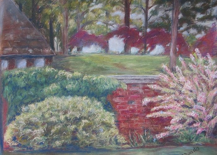 Landscape Greeting Card featuring the pastel Flaming Beauties by Dale Ducillo Lewinski