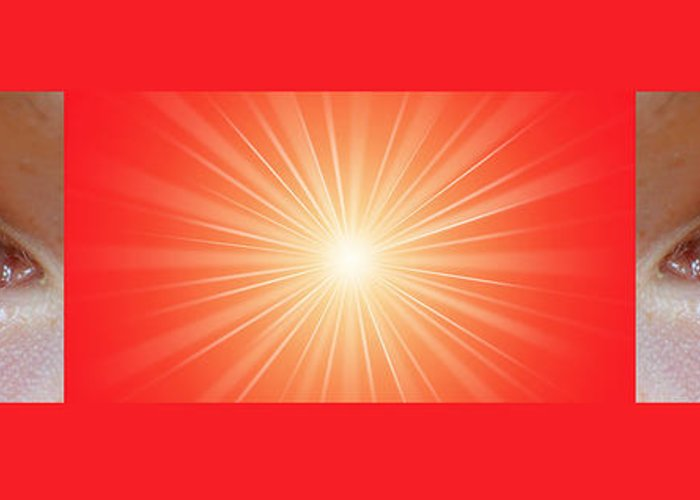 Meditation Greeting Card featuring the digital art Flash 2 by Philip Ralley