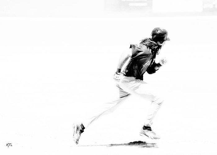 Baseball Greeting Card featuring the photograph Flash by Karol Livote