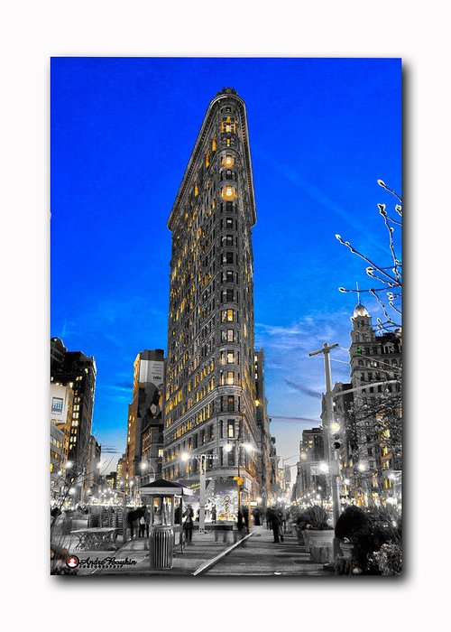 Greeting Card featuring the photograph Flatiron Building by Andre Boykin