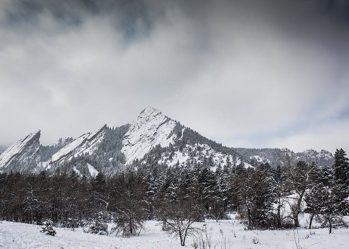 Landscape Greeting Card featuring the photograph Flatiron Winter by Greg Moore
