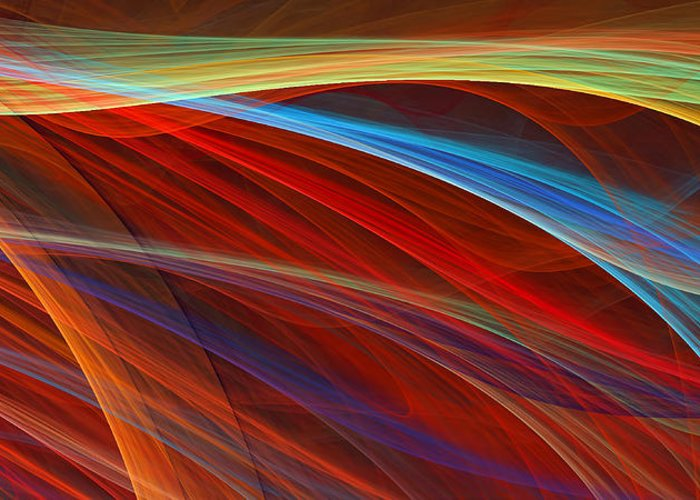 Red Greeting Card featuring the digital art Flaunting Colors by Lourry Legarde