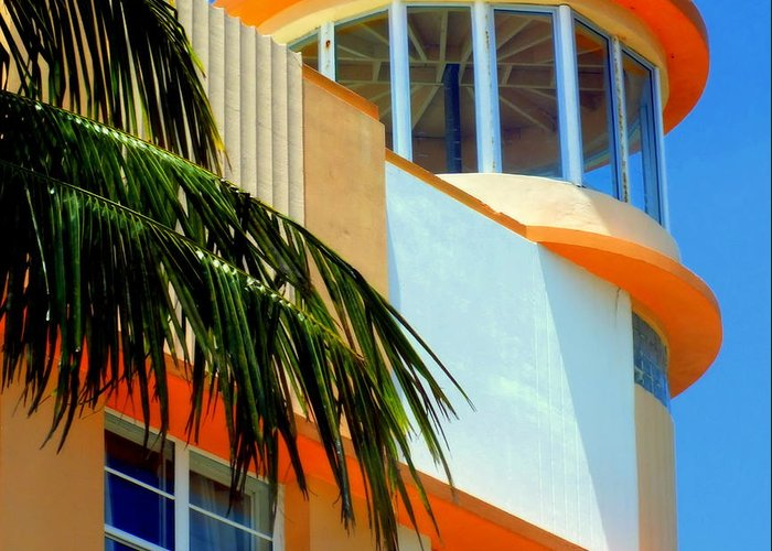 Art Deco Greeting Card featuring the photograph Flavour Of Miami by Karen Wiles