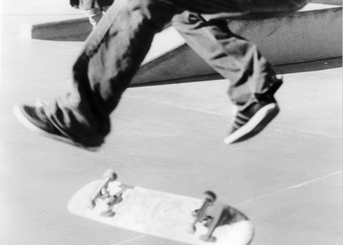Skate Greeting Card featuring the photograph Flip by Trevor Garner