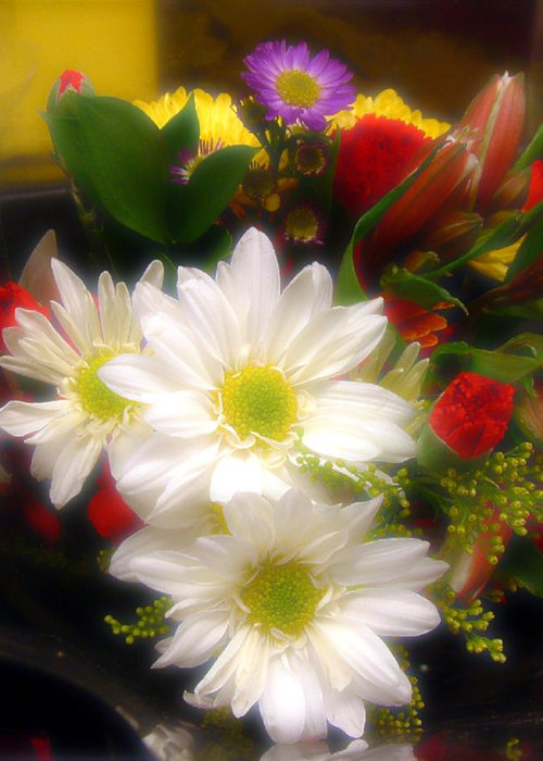 Bouquet Greeting Card featuring the photograph Flora Radiant by RC DeWinter
