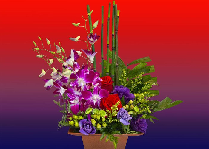 Flowers Greeting Card featuring the photograph Floral Arrangement by Chuck Staley