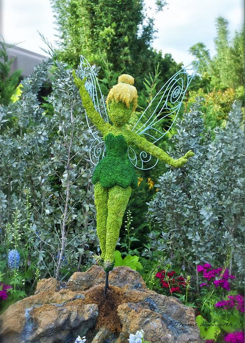 Flowers Greeting Card featuring the photograph Floral Tinker Bell by Thomas Woolworth