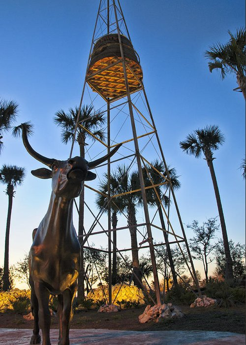 Statues Greeting Card featuring the photograph Florida Longhorns by Betty Eich