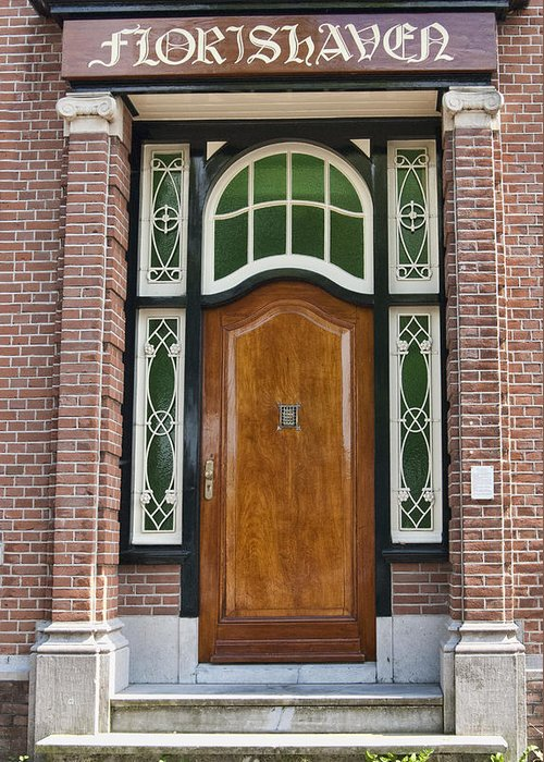 Florishaven Doorway Greeting Card featuring the photograph Florishaven Doorway by Phyllis Taylor