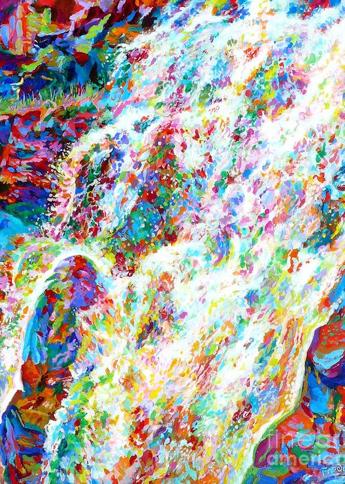 Water Greeting Card featuring the painting Flow by David Friedman