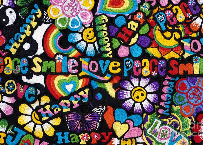 Embroidery Greeting Card featuring the photograph Flower Power by Tim Gainey