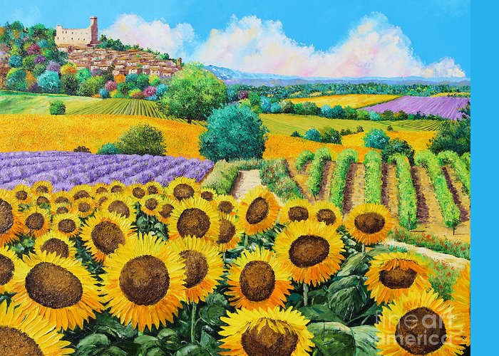 House Greeting Card featuring the digital art Flowered Garden by Jean-Marc Janiaczyk