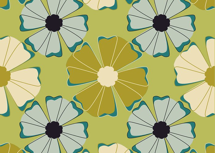 Posters Greeting Card featuring the digital art Flowers 3 by Lisa Noneman