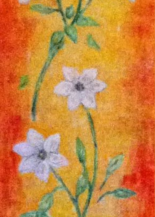 Greeting Card featuring the painting Flowers by Cynthia Hagenhoff