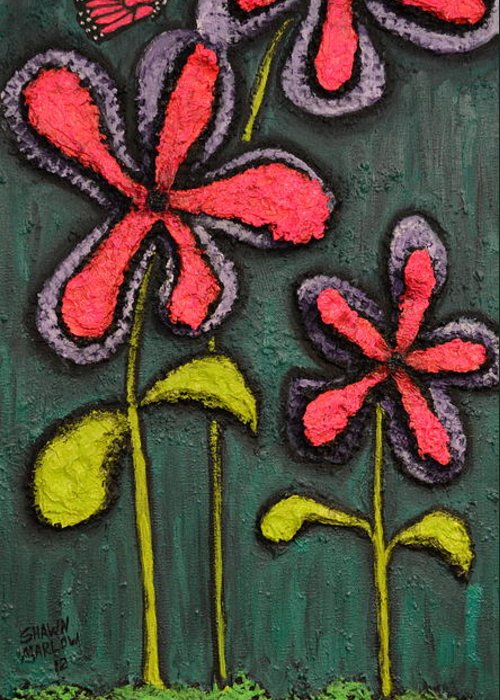Landscape Greeting Card featuring the painting Flowers For Sydney by Shawn Marlow