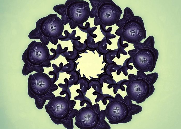 Abstract Greeting Card featuring the digital art Flowers Of Algebra by Michael Jordan