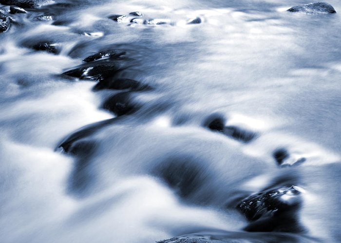 Water Greeting Card featuring the photograph Flowing Stream by Les Cunliffe