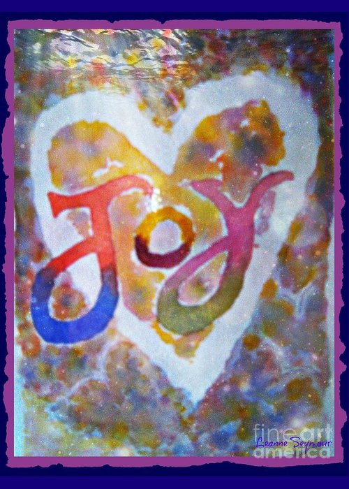 Joy Greeting Card featuring the mixed media Fluid Joy by Leanne Seymour