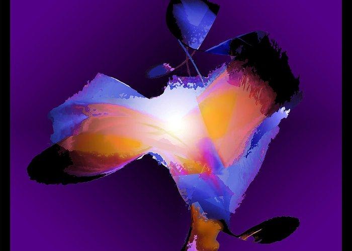 Abstract Figure Greeting Card featuring the digital art Flutters 2 by Warren Furman