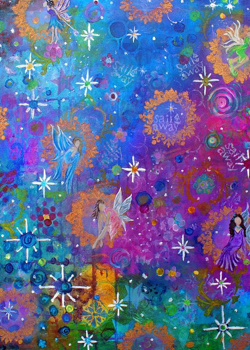 Fairy Art Greeting Card featuring the painting Fly Away To Fairy Day by The Art With A Heart By Charlotte Phillips