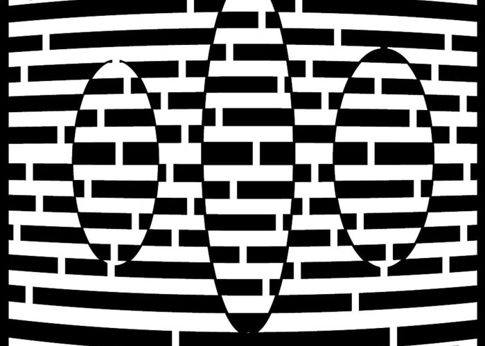 Fly Greeting Card featuring the drawing Flying Ovals Maze by Yonatan Frimer Maze Artist