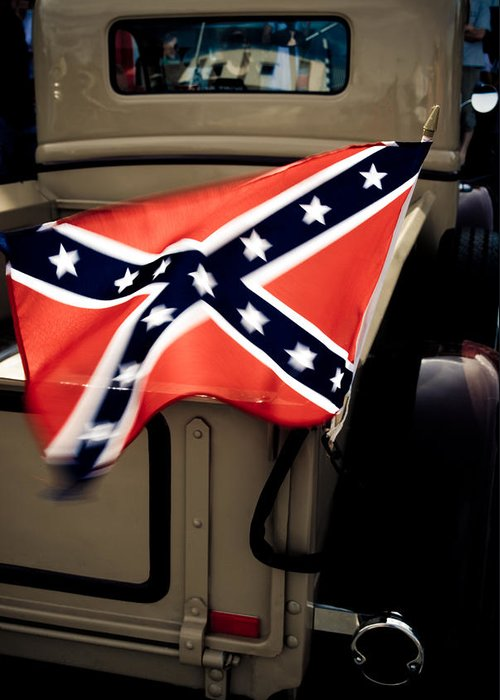 Confederate Flag Greeting Card featuring the photograph Flying The Flag by Phil 'motography' Clark