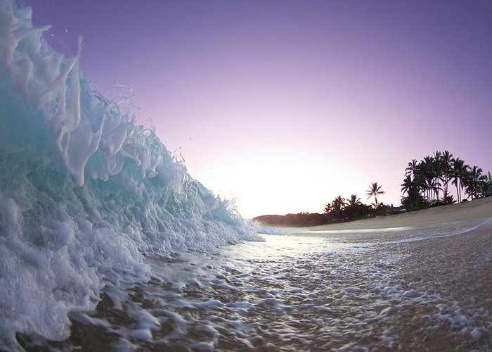 Foam Wave Greeting Card featuring the photograph Foam Wall by Sean Davey