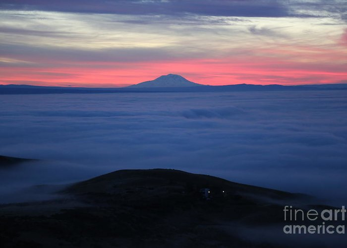 Prosser Greeting Card featuring the photograph Fog In The Valley by Carol Groenen