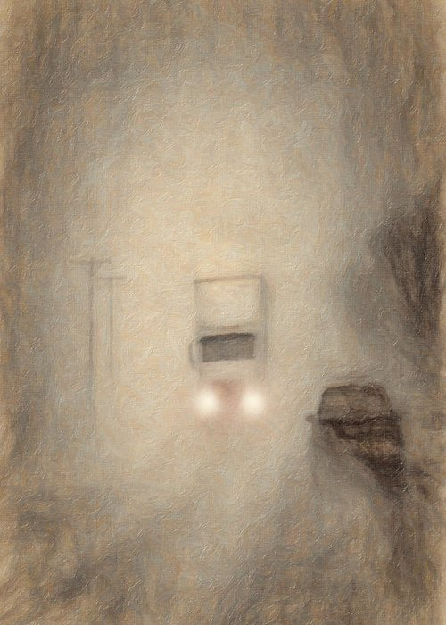 Fog Greeting Card featuring the photograph Fog On The Road To Walsenburg by Terry Fiala