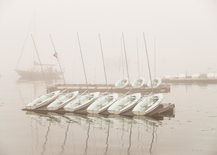 Seascape Greeting Card featuring the photograph Fogged In Again by Bob Orsillo
