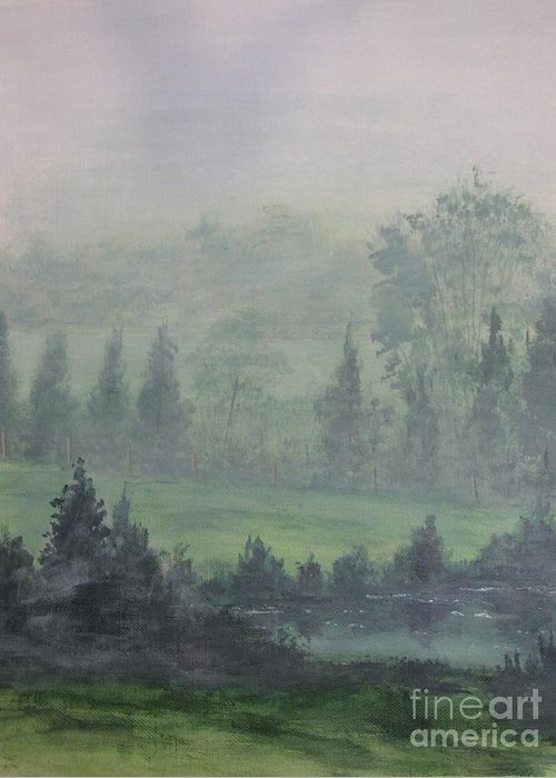 Painting Greeting Card featuring the painting Foggy Bottom Tennessee by Dana Carroll