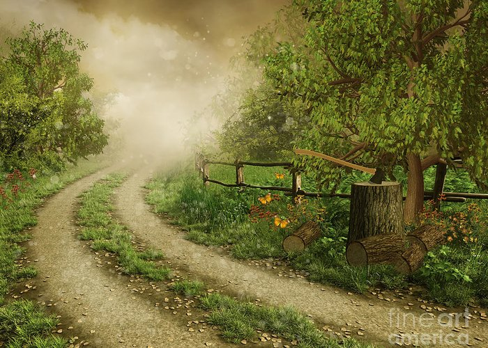 Foggy Road Greeting Card featuring the photograph Foggy Road by Boon Mee