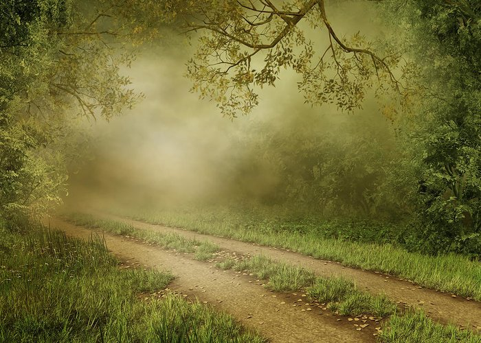 Foggy Road Photo Greeting Card featuring the photograph Foggy Road Photo by Boon Mee