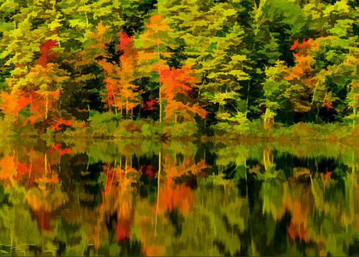 Fall Greeting Card featuring the photograph Foliage In New Hampshire by Pat Lucas