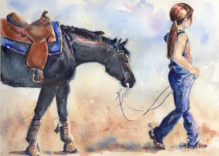 Closely Paintings Greeting Cards